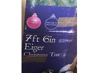 7ft6in eiger Christmas tree with light and decorations