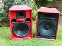 "Pair of 15"" PA Speakers"