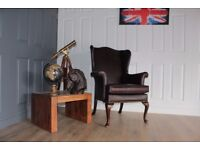 Parker Knoll Penshurs designer wing back brown leather armchair chair RRP£1400
