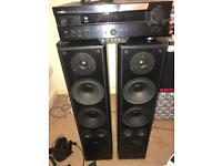 AMPLIFIER YAMAHA AND SPEACKERS SYMPHONY