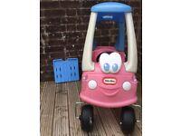 Little tikes pink blue car