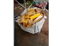 Ton bag firewood off cuts. Stove woodburner logs fire wood