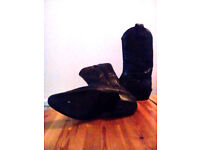 Size nine men's two tone black and greycowboy boots