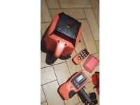 Only used 2 time rotary laser level kit cross line rotating auto self leveling 500m