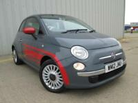 2012 (12) Fiat 500 1.2 LOUNGE GREY LOW MILES