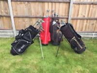 Golf Clubs and Bags.