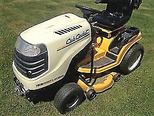 lawn tractor and snowblower