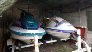 2- waverunners plus trailer