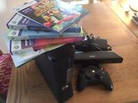 XBOX 360 S console + Kinect + Games