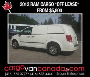 2012 Dodge RAM RAM C/V CARGO VAN fr $58OO *HARD PANEL NO GLASS*