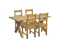 Home of Style Didsbury Dining Table with 4 Chairs