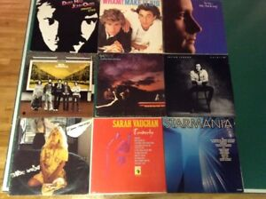 440 vinyles 33 trs, Phil Collins, Beau dommage, Wham, Hall & Oat