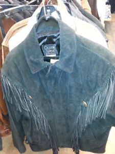 OCEAN WEST FRINGE SUEDE JACKETS NEW WITH TAGS