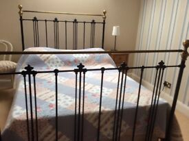 Double divan bed with drawers and period frame