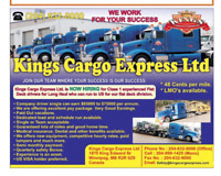 48 to 56 cents per Mile.Long Haul Semi truck driver & O/O needed