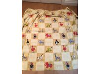 Children's cream / yellow animal curtains