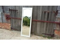 Vintage Painted Shabby Chic Full Length Mirror