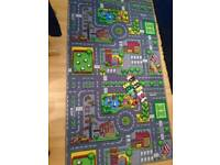 Car play mat with cars