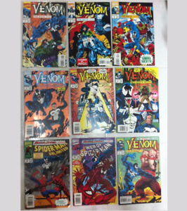 MARVEL COMICS VENOM COMICS SETS - SPIDERMAN PUNISHER
