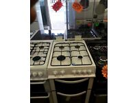 LOGIK 50CM BRAND NEW ALL GAS COOKER IN WHITE WITH LID