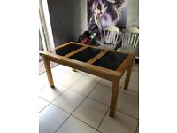 Lovely table with granite top 80cmx140cm