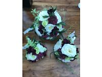 Wedding bouquets and table flowers for sale