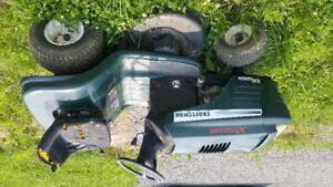 Sitdown lawnmower