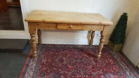 Quality solid pine kitchen table with drawer