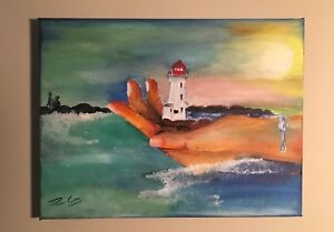 Hold On to Peggy's Cove Painting