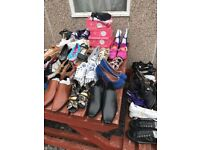 Job lot shoes - 130 + pairs, mixed brands (mens, womans & children)