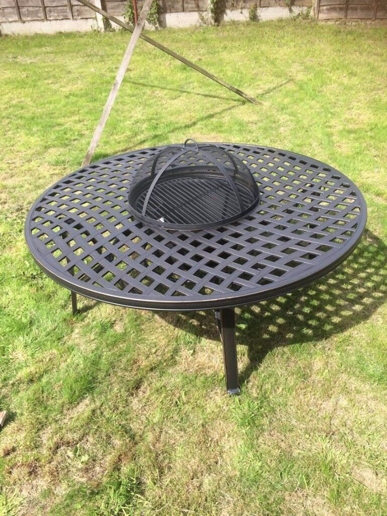Hartman Ripley New Inbox Fire Pit Garden Table Complete With All Accessories
