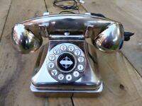 Modern phone with vintage look.