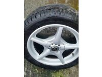 alloy wheels 15inch set of 5 brand new tyres