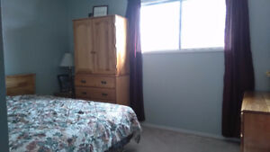 St. Albert Bedroom for rent monthly or nightly.