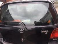 Toyota Yaris 2003 3 door tailgate black