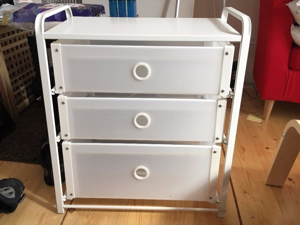 Chest Of 3 Drawers Lote White