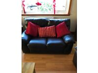 2 x 2 Seater and 1 Single chair Chocolate Brown Leather
