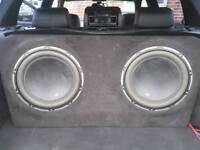 JL AUDIO 1000/1 MONO AMP & 2 X 12W6 D4 SUBS