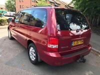 KIA SEDONA 2.9 CRDi L 7 seat 5dr Auto (red) 2005