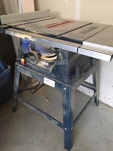 """mastercraft 10"""" table saw with dual extension wings"""