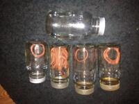 Old Kilner jars And 1 plain screw top jars