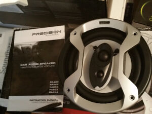 """Precision Acoustics pa653  6 1/2"""" 3-Way Car Speakers -NEW IN BOX"""