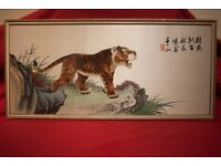 CHINESE SILK PAINTING 絲綢畫