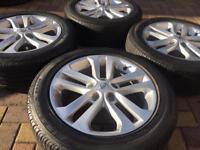 """Genuine 17"""" Nissan Juke Qashqai Alloy wheels and Bridgestone tyres Kia Sportage 4mm"""
