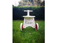 Childs/ toddlers wooden 4 wheel trike