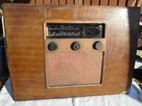 Radio Murphys vintage A104 valve, 1946 baffle board