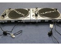 KAM DDX750 Direct Drive Turntables + lightboxes and sound chaser