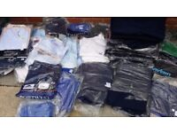 approx 130 items new workclothes .. trousers , jackets dresses new .. joblot , bootsale , market