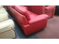 Candy Apple Red Leather Suite (2 + 2)