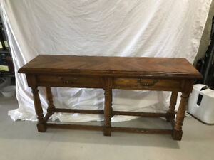 Sofa table oak